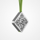 promotional aluminium keychain with qr-code wholesale
