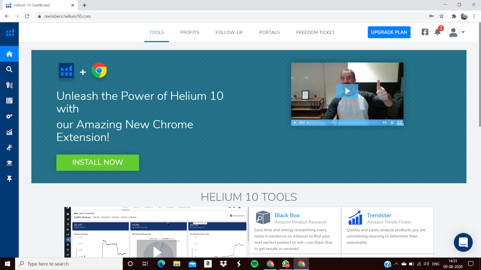 Upgrade Helium 10 Plan