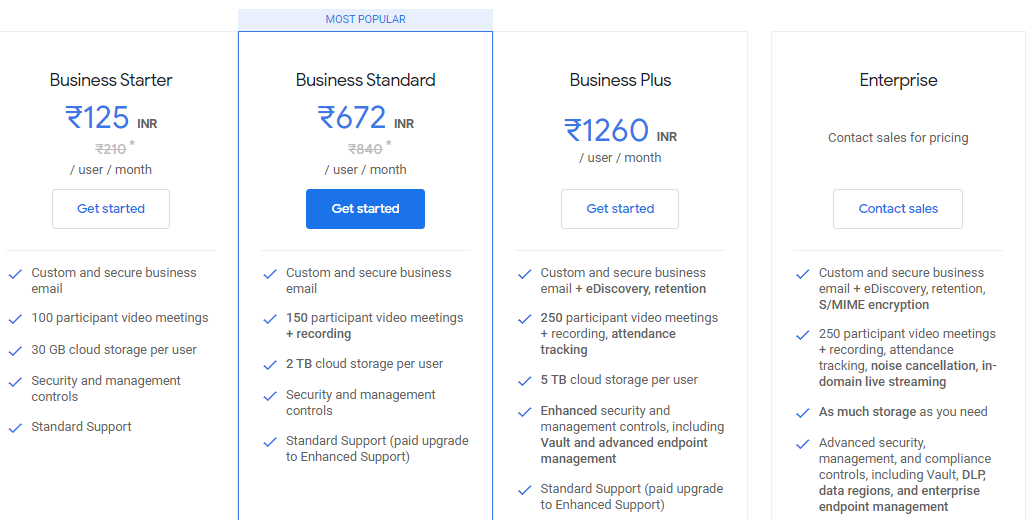 g suite payment info